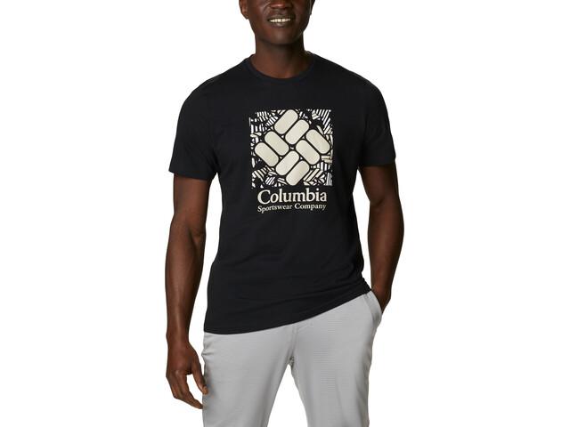 Columbia Rapid Ridge Graphic Tee Men, black frondtastic